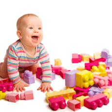 Child palying puzzle